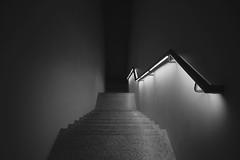 Level No. 4 (updownmo) Tags: light stairs art image photo blackandwhite dark steps descend lines form shapes arrangement tones monochrome stairways narrow deep architecture space inbetween shadeofgrey shadows artist capture unitedkingdom underground loading materials magical simplicity lightandshadow