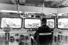 On Duty (Janne Räkköläinen) Tags: london uk unitedkingdom thames river hms belfast hmsbelfast captain vessel navy onduty duty chair bridge steering ship secondworldwar commander blackwhite bnw bw canon canon6d canonphotography canonphotographing ef24105l amateur amateurphotography amateurphotographing 2019 october gear photo selfie view