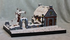 Christmas Eve in Godric's Hollow (GondorSoldier) Tags: harry potter harrypotter lego castle godricshollow christmas christmaseve gondor soldier snow holiday winter scene