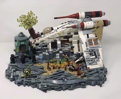 Republic Gunship Jedi Hideout after Order 66 (Hypolite Bricks) Tags: starwars lego legos jedi stormtrooper gunship republic bricks built moc