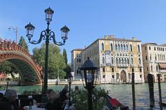 Ponte dell'Accademia on Canal Grande . (Sokleine) Tags: venice venezia veneto italia italie italy europe eu heritage palace musée museum bridge pont patrimoine canal water grandcanal