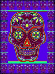 Calaveras Coloridas (Marcia Portess-Thanks for a million+ views.) Tags: mexico calaveramexicana mexicana multiples magic computerart elartedigital digitalart elarte art sugarskull skull colourful colour díadelosmuertos dayofthedead marciaaportess marciaportess map calaverascoloridas