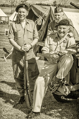 Photo of East Fortune 1940s event. Scotland.