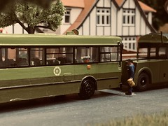 A Handpainted CIE Livered Leyland Tiger P193 Towcar recently Completed, demonstrated here on the Layout. It rescues a Stricken KC GAC Citibus on a 36A Outbound. (KDBOMBARDIER) Tags: kc gac citybus towcar p193 leylandtiger towtender kcclass