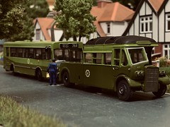 A Handpainted CIE Livered Leyland Tiger P193 Towcar recently Completed, demonstrated here on the Layout. It rescues a Stricken KC GAC Citibus on a 36A Outbound. (KDBOMBARDIER) Tags: p193 citybus gac kc leylandtiger towtender towcar cie