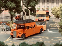 Another Handpainted Example of the CIE Leyland Tiger Towcar. Modelled here in an earlier Guise P193 assists an early D Type Atlantean. (KDBOMBARDIER) Tags: leylandtiger tiger atlantean leyland conynghamrdgarage p193 towtender towcar