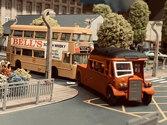 Another Handpainted Example of the CIE Leyland Tiger Towcar. Modelled here in an earlier Guise, P193 assists an early D Type Atlantean. (KDBOMBARDIER) Tags: conynghamroadgarage atlantean leyland leylandtiger p193 towtender towcar cie