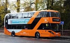 449 (timothyr673) Tags: 449 yn18sxj bus nottinghamcitytransport nct nctroute36 orange orangeline orangeline36 scania n280ud biogas e400 e400city cng enviro400city enviro400 alexanderdennis adl