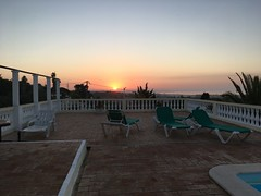 Sunrise (missemorris) Tags: lagos sunrise portugal europe travel balcony deckchairs pool