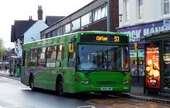 201 on Grey Line 53 (timothyr673) Tags: yn04amk 201 spare green greenspare nct nottinghamcitytransport bus greyline elc eastlancs scania omnitown n94ub