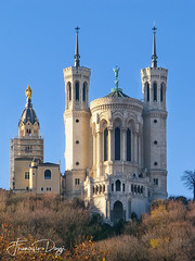 Basilica of Notre-Dame de Fourvière (*Checco*) Tags: ancient architecture attraction basilica basilique beautiful belltower building cathedral catholic christian church city cityscape cross dame decoration downtown edifice europe european exterior faith famous fourviere france french gothic heritage hill icon landmark lyon medieval monument notre notredame old outdoors place religion religious site statue stone symbol tourism tower travel view