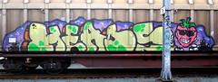 Graffiti in Freights (wojofoto) Tags: amsterdam nederland netherland holland cargotrain güterzug vrachttrein freighttraingraffiti freighttrain freights fr8 graffiti streetart wojofoto wolfgangjosten heads