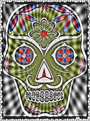 Señor Bigoton! (Marcia Portess-Thanks for a million+ views.) Tags: brillante brilliant moustachedcalavera sugarskull dayofthedead díadelosmuertos november2 elartedigital digitalart elarte art calavera marciaportess marciaaportess map señorbigoton
