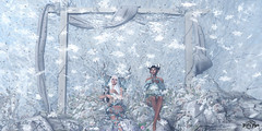 #135 - Winter Fairies (Yvain Vayandar) Tags: secondlife sl medieval fantasy roleplay fairy snow winter decoration background horns cold dm kaithleen´s doux foxes lorien bonbon moonsha hextraordinary tmcreation happymood {lore} pukerainbows {anc}