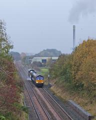 It's Grim Up North (Richie B.) Tags: kirkby thore cumbria settle carlisle railway 3j11 drs direct rail services rhtt head treatment train network emd general motors class 66 66302 66434