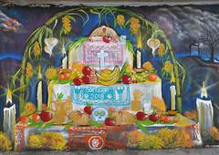 Ofrenda Altar Day of the Dead Mural Mexico (Ilhuicamina) Tags: murals mexican oaxacan diademuertos ofrenda altar dayofthedead