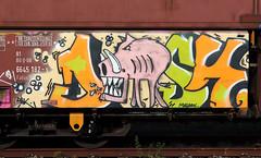 Graffiti in Freights (wojofoto) Tags: amsterdam nederland netherland holland cargotrain güterzug vrachttrein freighttraingraffiti freighttrain freights fr8 graffiti streetart wojofoto wolfgangjosten disk