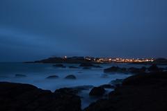 2019 Octobre - Ploemeur (Le Courégant) (Nuit).007 (hubert_lan562) Tags: ploemeur mer océan nuit soir light sea pose longue long morbihan bretagne 56 ciel lumiere exposure
