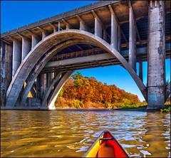 Under The Bridge (Rodrick Dale) Tags: under the bridge autumn credit river port ontario canada canoe