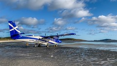 IMG_2955 (Invincible Moose) Tags: barra airport beach dhc6 viking400 loganair series400 dhc6400