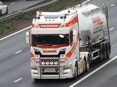 Senior Haulage, Scania (V800SHL) On The A1M Southbound (Gary Chatterton 7 million Views) Tags: seniorhaulage scaniatrucks v800shl transport trucking wagon lorry haulage distribution logistics roadtanker motorway flickr canonpowershotsx430 photography