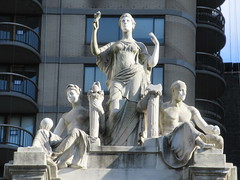 Courthouse Roof Statues Madison Square Park NYC 8300 (Brechtbug) Tags: seasonal caryatid mystery women l r winter spring autumn summer courthouse roof statues across from madison square park new york city atlantid nyc art architecture gargoyle gargoyles statue sculpture sculptures facade figures column columns court house law government building seasons season buildings 2019 11022019 november