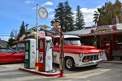 Reiff's Gas Station.  Woodland, CA (bobchesarek) Tags: gasstation memorabilia gaspumps towtruck oldsigns vintage antique old corvette