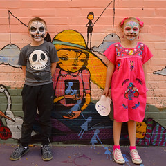 Young skeletons (radargeek) Tags: dayofthedead plazadistrict okc oklahomacity 2018 october catrina festival facepaint lildfromokc