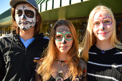 The trio (radargeek) Tags: dayofthedead plazadistrict okc oklahomacity 2018 october catrina festival facepaint skeleton