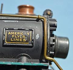 #Logo, #MacroMonday, # AmericanFlyerLine, (David McSpadden) Tags: macromonday logo americanflyerlines modelrailroad locomotive 1930s