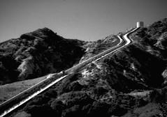 Los Angeles Aqueduct Cascades, Sylmar, California (joelfetzer) Tags: losangeles aqueduct sylmar california minox iiis subminiature 8x11 adoxcms20ii adotechiv film blackandwhite water waterfalls mountains sky owensvalley newhallpass sanfernandovalley