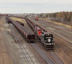 EMD gathering at Proctor (Ian_Asher) Tags: cn emd train yard minnesota illinois central sd402 sd402w standard cab railroad railway fallen flag ore iron range