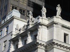 Courthouse Roof Statues Madison Square Park NYC 8304 (Brechtbug) Tags: seasonal caryatid mystery women l r winter spring autumn summer courthouse roof statues across from madison square park new york city atlantid nyc art architecture gargoyle gargoyles statue sculpture sculptures facade figures column columns court house law government building seasons season buildings 2019 11022019 november