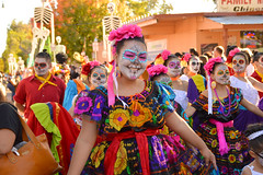 A smiling catrina (radargeek) Tags: parade procession dayofthedead plazadistrict okc oklahomacity 2018 october catrina festival facepaint everythinggoesdancestudio smile