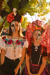 One skull between the two of them (radargeek) Tags: dayofthedead plazadistrict okc oklahomacity 2018 october catrina festival facepaint kid child