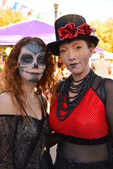 Ready for the show (radargeek) Tags: dayofthedead plazadistrict okc oklahomacity 2018 october catrina festival facepaint web tophat flower