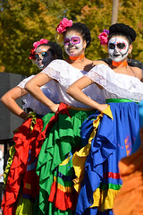 Ready to dance (radargeek) Tags: dayofthedead plazadistrict okc oklahomacity 2018 october catrina festival facepaint dancing