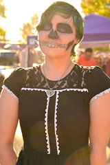 Light with the darkness (radargeek) Tags: dayofthedead plazadistrict okc oklahomacity 2018 october catrina festival facepaint greenhair