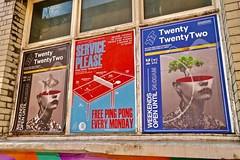 Twenty Twenty Two, Manchester, UK (Robby Virus) Tags: manchester england uk unitedkingdom britain greatbritain gb twenty two bar pingpong alcohol northern quarter sign signage