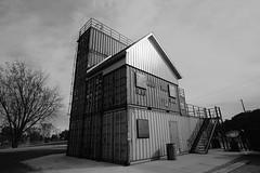 fullsizeoutput_2021 (Carolyn Peterson) Tags: sonya7 blackandwhite viroqua wisconsin driftless shippingcontainer smalltowns tokinafirin 20mm