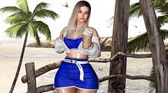 # ❥357 Mʏ Bᴀᴜᴛɪғᴜʟ Mᴏʀɴɪɴɢ (SandraReja) Tags: sl secondlife virtual fashion skirt top cardigan mesh bento maitreya genus babyface blog blogger shy doux dubai event hairstyle blonde fashionita cropped hopeset cynful candydoll fameshed
