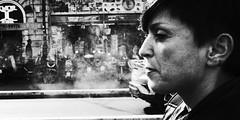 And relax. (Baz 120) Tags: candid candidstreet candidportrait city contrast street streetphoto streetcandid streetportrait strangers rome roma ricohgrii europe women demonstration monochrome monotone mono noiretblanc bw blackandwhite urban life portrait people provoke italy italia grittystreetphotography faces decisivemoment