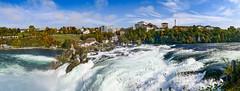 Rhein Falls (かがみ~) Tags: panasonic waterfall switzerland panorama lx10 萊茵瀑布 rheinfall rheinfalls schaffhausen lx15 lx9 pano シャフハウゼン スイス パノラマ 沙夫豪森 滝 瑞士 ライン滝 dachsen cantonofzürich
