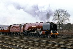 06/04/1985 - Holgate Junction, York. (53A Models) Tags: britishrail nationalrailwaymuseum stanier lms princesscoronation 8p 462 46229 duchessofhamilton preserved stam passenger holgatejunction york train railway locomotive railroad