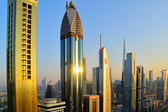 Dubai (Neal J.Wilson) Tags: sheikh zayed road dubai uae united arab skyline skyscrapper emirates buildings cityscapes city goldenhour golden futuristic travel travelling arabian metropolis hotel middleeast
