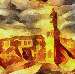 City in the Sands (V_Dagaev) Tags: city town sand building art architecture clouds sky landscape painterly painting painter paintingsfromphotos paint digital visualdelights tower