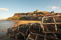 Lobster pots in Whitby (Mister Oy) Tags: whitby lobster pots coast harbor harbour shore beach sunnt autumn fall church abbey fishing fujixpro2 fuji1024mm yorkshire vacation holiday break
