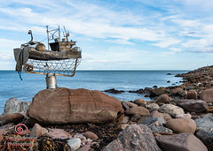 The Trawler - Jimmy Malcolm (_Captive Image_) Tags: captiveimagephotography scotland traveldestinations stonehavenbanksy metalwork stonehaven socialhistory sea sculpture jimmymalcolm beach trawler outdoors concepts cultures boardwalk uk humor