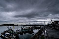 漁港ーfishing port (kurumaebi) Tags: yamaguchi 秋穂 山口市 nikon d750 nature landscape dusk sunset 夕焼け port 漁港 boat 船