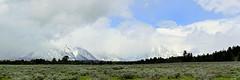 Grand Teton Mountain Range in the Clouds - Panorama (André-DD) Tags: grandtetons nationalpark usa unitedstatesofamerica berge mountain mountains berg panorama wyoming